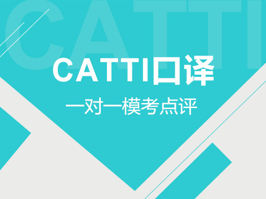 CATTI口译,一对一辅导,模考点评